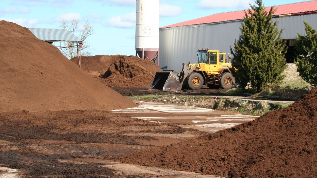 Peat production facilities in Tukums, Areapeat