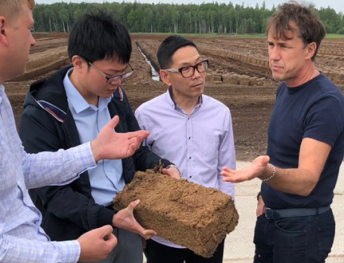Chinese partners are learning about peat